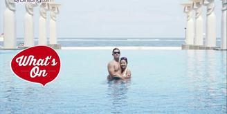 Meskipun batal bulan madu ke Yunani, Samuel Zylgwyn dan Franda tetap romantis saat bulan madu di Bali dan Lombok.