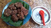 Bubur sagu khas Dusun Santren, Desa Mandirejo, Merakurak, Tuban, Jawa Timur. (Foto: Liputan6.com/Ahmad Adirin)