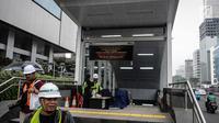 Penampakan luar Stasiun Mass Rapid Transit (MRT) Bundaran HI, Jakarta, Senin (10/12).(Www.sulawesita.com)