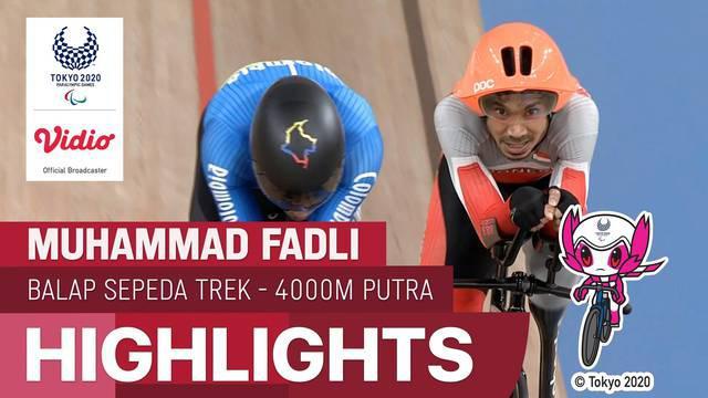 Berita video highlights penampilan atlet Indonesia, Muhammad Fadli, di cabang olahraga balap sepeda trek nomor individual pursuit putra 4.000 meter klasifikasi C4 di Paralimpiade Tokyo 2020, Jumat (27/8/2021) pagi hari WIB.