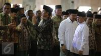 Presiden Joko Widodo saat tiba di Masjid Istiqlal jelang Deklarasi Hari Santri Nasional, Jakarta, Kamis (22/10/2015). Jokowi menetapkan 22 Oktober sebagai Hari Santri Nasional. (Liputan6.com/Faizal Fanani)