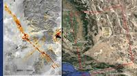 Gempa bumi California. (NASA/JPL-Caltech)