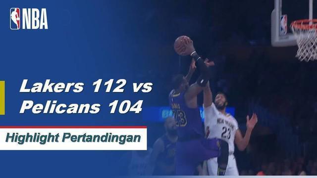 LeBron mendapatkan triple-double ke-3 musim ini (22 poin, 12 rebound, 14 assist) dan kemenangan melawan Pelikan 112-104