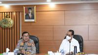 Kakorlantas Polri Irjen Pol Istiono dan Menhub Budi Karya Sumadi (Foto:Liputan6/Ady Anugrahadi)