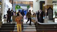 suasana pintu masuk pernikahan perdana yang diizinkan Gugus Tugas Covid 19 Bangkala