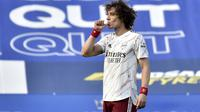 Gol penyeimbang David Luiz di menit ke-39 menjadi titik balik kemenangan Arsenal yang menjadi lebih percaya diri mengalahkan tuan rumah Leicester City. (Foto: AP/Pool/Rui Vieira)