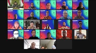 Ilustrasi seremoni kerja sama Bank Aladdin, PT Sumber Alfaria Trijaya Tbk (AMRT) dan Halodoc (Dok: Liputan6.com/ Pipit Ika Ramadhani)