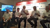 CEO Pelindo III, Ari Askhara, dalam konferensi pers, di Jakarta, Kamis (9/8/2018). (Wilfridus Setu Embu/Merdeka.com)