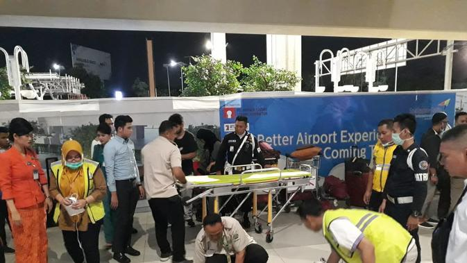 Penumpang berinisial RR (76)  meninggal di Terminal 3, Bandara Soekarno Hatta, Tangerang. Dok AP II