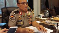 Karo Penmas Divisi Humas Polri, Brigjen Pol Dedi Prasetyo, di Mabes Polri, Selasa (27/8/2019). (Liputan6.com/Ady Anugrahadi)