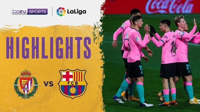 Berita video, Barcelona menang 3-0 atas Real Valladolid di pekan ke-15 Liga Spanyol