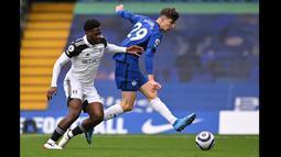 Tak lama berselang, Havertz kembali membobol gawang Fulham, tapi gol itu dianulir akibat offside. (Foto: AFP/Pool/Justin Setterfield)