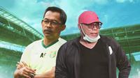 Ilustrasi - Aji Santoso dan Iwan Setiawan (Bola.com/Adreanus Titus)