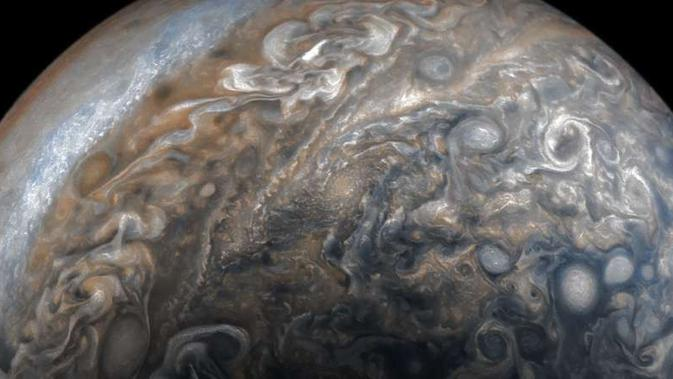 Penampakan baru Jupiter. (NASA/David Marriott)