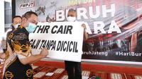 Wali Kota Hendi saat peringatan May Day atau hari buruh internasional, Sabtu (1/5) lalu di Hall Balaikota Semarang.