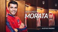 Alvaro Morata resmi didatangkan Atletico Madrid dengan status pinjaman dari Chelsea. (Twitter Atletico Madrid)