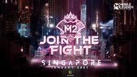 M2 World Championship, turnamen bergengsi Mobile Legends: Bang Bang, akan digelar di Singapura pada Januari 2021. (Dok. Moonton)