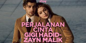 Seperti apa perjalanan cinta Gigi Hadid dan Zayn Malik? Yuk, kita cek video di atas!