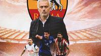 AS Roma - Jose Mourinho, Pierre-Emile Hojbjerg, Sami Khedira, Diego Costa (Bola.com/Adreanus Titus)