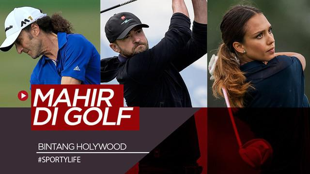 Berita video daftar 7 bintang Hollywood terbaik yang mahir bermain golf.