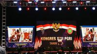 Presiden Joko Widodo atau Jokowi meminta para guru untuk berinovasi dalam proses belajar mengajar. (Liputan6/Lizsa Egeham)