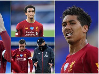 Berikut ini wajah-wajah kecewa para pemain Liverpool usai gagal mengalahkan Everton pada laga Derbi Merseyside. Hasil imbang ini membuat anak asuh Jurgen Klopp harus menunda untuk segera mengunci gelar Premier League 2019-2020.
