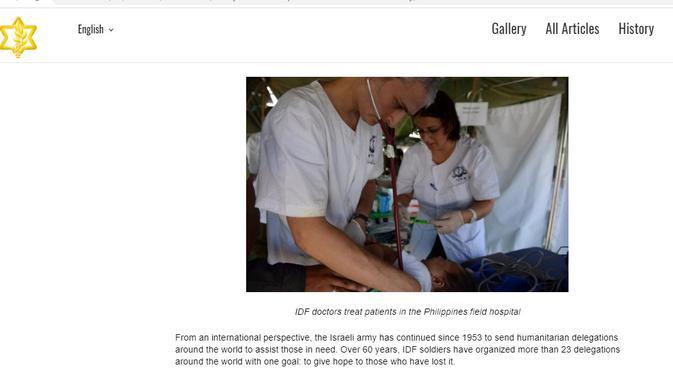 Cek Fakta: Dokter Israel Diklaim Bantu China Tangani Wabah Corona, Ini Faktanya (www.idf.il)