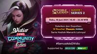 Live Streaming Vidio Community Cup Ladies Season 1 Mobile Legends Series 2 Rabu 16 Juni 2021. (Sumber : dok. vidio.com)