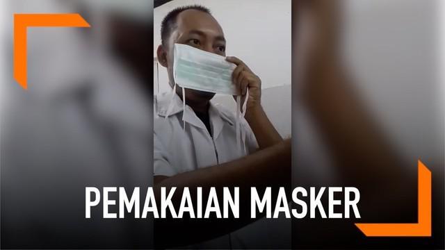 Beragam kabar marak di sosial media. Salah satunya adalah viral video seorang pria yang menggunakan pakaian berwarna putih sedang mempraktikkan cara menggunakan masker.