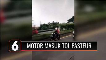 VIDEO: Viral Pengendara Motor Masuk Jalur Tol Pasteur dengan Alasan Ikuti Aplikasi Navigasi