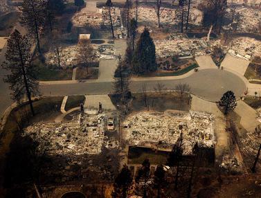 40 Persen Kota Paradise Hancur oleh Kebakaran California