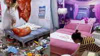 Viral Wanita Ini Ubah Kamar yang Penuh Sampah Jadi Bak Hotel, Bikin Takjub (Sumber: TikTok/@asepsy1)
