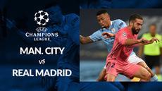Berita motion grafis statistik Manchester City vs Real Madrid pada 16 besar Liga Champions 2019-2020 leg kedua, Sabtu (8/8/2020) di Etihad Stadium, Manchester.