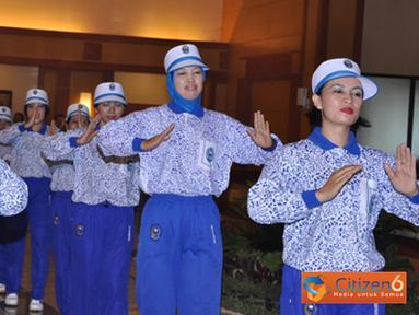 Citizen6, Surabaya: Pelaksanaan lomba Senam Rekresasi Porwasi ini dalam upaya mendukung dan sosialisasi dari rencana pemecahan rekor Muri oleh Porwasi. (Pengirim: Penkobandikal)