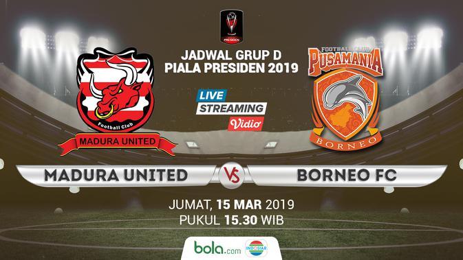 Madura Vs Borneo Facebook: Live Streaming Piala Presiden 2019: Madura United Vs