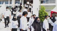 Para peserta ujian CASN di Balikpapan Kalimantan Timur.