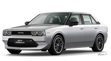 Rekaan tampang modern Toyota Corolla DX di masa modern