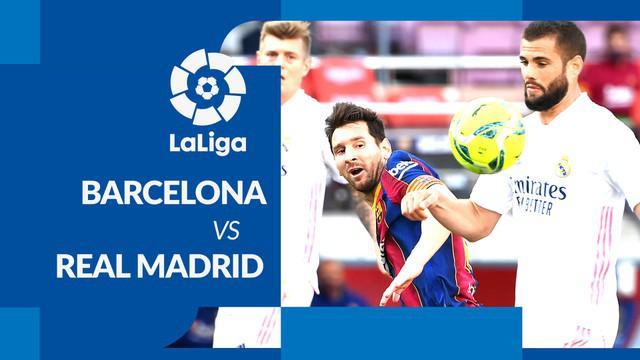 Berita motion grafis statistik Barcelona vs Real Madrid Sabtu (24/10/2020) di Camp Nou, Barcelona.