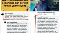 Postingan istri Dandim 1417 Kendari, sempat memancing reaksi netizen sebelum adanya sanksi hukum terhadap suaminya.(Liputan6.com/Ahmad Akbar Fua)