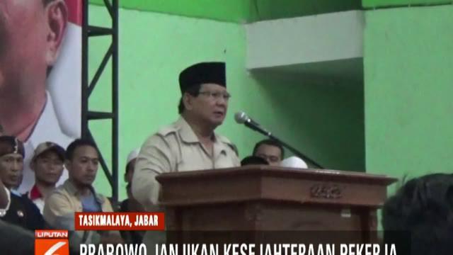 Dalam pidatonya, Prabowo berjanji akan berbuat adil kepada semua pihak dan tidak akan tebang pilih dalam penegakan hukum.