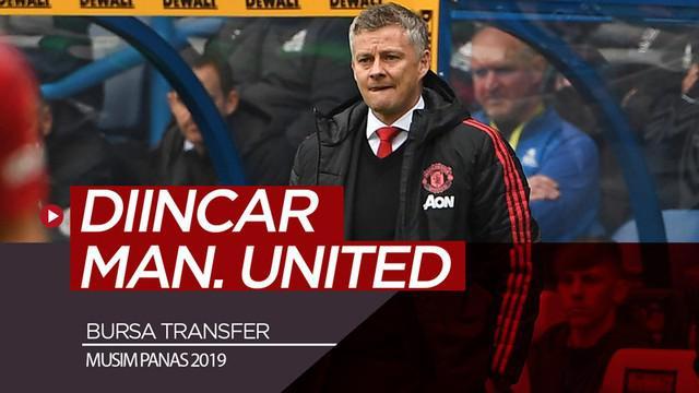 Berita video pemain-pemain yang diincar dan dikaitkan dengan Manchester United pada bursa transfer musim panas 2019.
