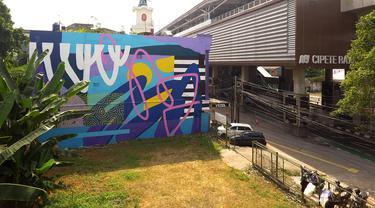 Ekspresi Kala Pandemi, Mural Hiasi Tembok Dekat Stasiun MRT Jakarta