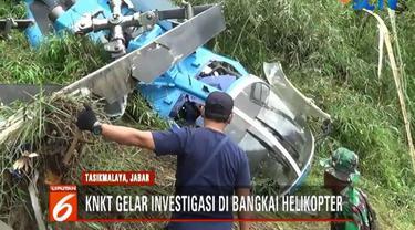 Tim KNKT mengevakuasi GPS sejumlah mesin pesawat dan kotak hitam heli.