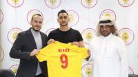 Mantan penyerang Persebaya, Mahmoud Eid, bergabung dengan klub Qatar, Al-Mesaimeer Sports Club. (Twitter Al-Mesaimeer Sports Club).