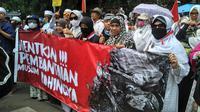 Aksi solidaritas untuk Rohingya digelar di Kedubes Myanmar