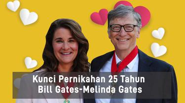 Kunci Pernikahan 25 Tahun Bill Gates-Melinda Gates crashing