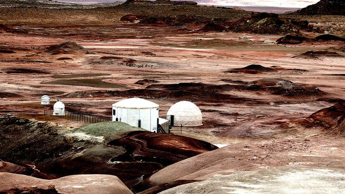 Foto dokumentasi dari team NHK Jepang, TEAM ASIA, Crew 191 MDRS (Mars Desert Research Station) 2018, Mars Society, Utah, USA
