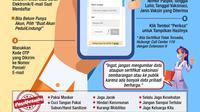 Infografis Cara Cek Sertifikat Vaksin Covid-19 di Situs PeduliLindungi. (Liputan6.com/Niman)