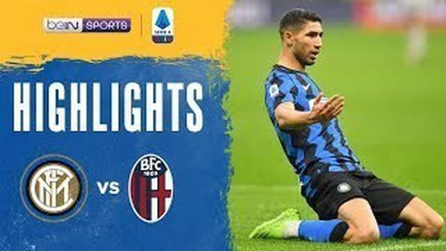 Berita video 2 gol Achraf Hakimi dalam highlights kemenangan Inter Milan 3-1 atas Bologna pada pekan ke-10 Liga Italia 2020/2021, Minggu (6/12/2020) dinihari WIB.