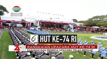 Sore ini dilaksanakan upacara penurunan bendera dalam rangka HUT ke-74 RI yang dilaksanakan di Istana Merdeka. Upacara langsung dipimpin oleh Presiden Jokowi.